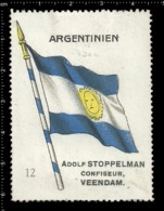 Old  Dutch Poster Stamp Cinderella Vignette Erinoffilo Reklamemarke Flag Flagge Argentinien Argentina. - Flaggen