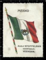 Old  Dutch Poster Stamp Cinderella Vignette Erinoffilo Reklamemarke Flag Flagge Mexiko Mexico. - Flaggen
