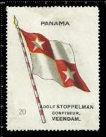 Old  Dutch Poster Stamp Cinderella Vignette Erinoffilo Reklamemarke Flag Flagge Panama. - Flaggen