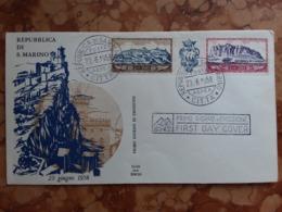 SAN MARINO 1958 - Trittico Monte Titano + Spese Postali - FDC