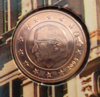 ===== 1 Cent Belgique 2005 Sorti Du BU (8 Pièces) Mais Légèrement Oxydé ===== - Belgium