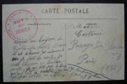 Gare De Castres Infirmerie Croix Rouge Française, Cachet Rouge Sur CPA Le Sidobre Agglomération De La Fusarié - Spoorwegpost