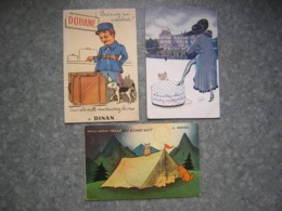 LOT DE 3 CARTES SYSTEME PHOTOS - PARIS, DINAN, BERNEX - Cartoline Con Meccanismi