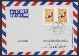 """Yugoslavia 1968 First Flight """"Lufthansa"""" Zagreb - Düsseldorf, Airmail Cover - 1945-1992 République Fédérative Populaire De Yougoslavie"""