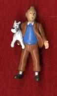 HERGE  TINTIN ET MILOU  -   FIGURINE AU DOS HERGE 1994  PLASTOY - Tintin