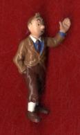 HERGE  TINTIN ET MILOU  -   FIGURINE AU DOS HERGE BULLY MADE IN GERMANY - Tintin