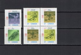 Canada 1988 Olympic Games Calgary Block Of 4 + 2 Stamps MNH - Winter 1988: Calgary