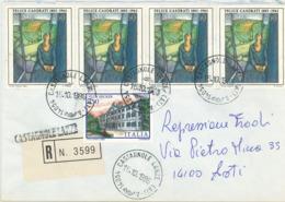 Felice Casorati Daphne A Casarolo [D. Mabel Maugham In C.] Castagnole Lanze - Villa Necker Triest - R-Brief Provisorium - Writers