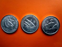 Kuba  Cuba Münzen Silber 3 X 5 Peso Entdeckung Amerikas, Kuba,1981, Gekapselt,5000 Ex. Coin, Moneda, Selten, Rare - Cuba