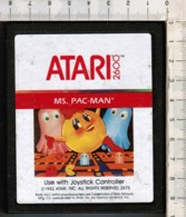 Videogioco-ATARI 2600 (MS. PAC-MAN*) Vintage Cassetta 1982 N.2675-vedi Foto - Atari
