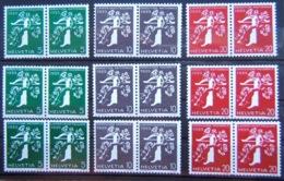 Schweiz Suisse 1939: ALLE PAARE Landi-EXPO-Rollenmarken Zu Z25-Z27d+e+f Mi W7/W23 ** Postfrisch MNH (Zu CHF 114.00) - Se-Tenant