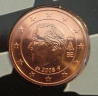 ===== 2 Cent Belgique 2008 Sorti Du BU (8 Pièces) Mais Légèrement Oxydé ===== - Belgium
