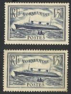 FRANCE--1935--Paquebot Normandie--MLH-- 2 COLORS - France