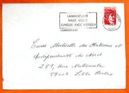 59 LAMBERSART  VILLE VERTE 1981 Lettre Entière N° PP 505 - Marcophilie (Lettres)