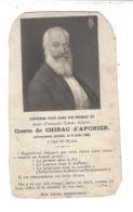 JEAN - FRANCOIS - LEON - ALBERT  Comte De CHIRAC D'Apchier 1825 / 1903 - Old Paper