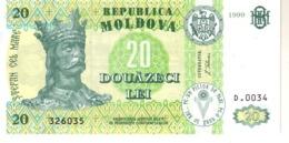 Moldova P.13  20 Lei 1999 Unc - Moldavië