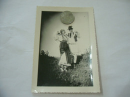 FOTO COSTUME TRADIZIONALE CONTADINO CONTADINA MOLDAVIA ROMANIA CM.12X16-2 - Mestieri