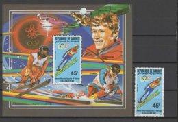 Djibouti 1988 Olympic Games Calgary, Space Stamp + S/s MNH - Winter 1988: Calgary