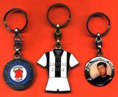 Lot De 3 Porte Clefs Métal Zinedine Zidane Champion Du Monde 1998 - Foot - Football - 2 Scans - Porte-clefs