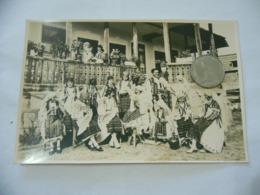 FOTO COSTUME TRADIZIONALE CONTADINO CONTADINA OLTENIA ROMANIA CM.12X18-28 - Mestieri