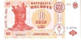 Moldova P.10  10 Lei  2013 Unc - Moldavia