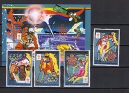 Central Africa 1988 Olympic Games Calgary, Space Set Of 4 + S/s MNH - Winter 1988: Calgary