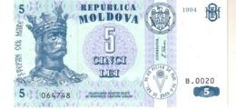 Moldova P.9   5 Lei  1994  Unc - Moldavië