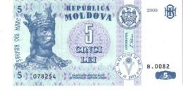 Moldova P.9  5 Lei  2009  Unc - Moldavia