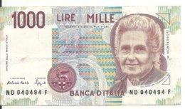 ITALIE 1000 LIRE 1990 VF P 114 B - [ 2] 1946-… : République