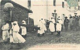 43 - SIAUGUES SAINT ROMAIN - PROCESSION DU JEUDI SAINT - France