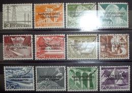 """UNO Genf ONU Genève 1950: Dienst VII Service NATIONS UNIES OFFICE EUROPÉEN"""" No. 1-11 O (Zu CHF 95.00) - Oficial"""