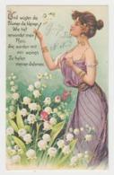 AB426 - Jolie Illustration FEMME - FRAU - LADY - Avec Muguet - Style ART NOUVEAU - Illustrators & Photographers