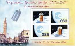 ERINNOFILIA / Programma Spaziale Europeo INTELSAT 1980 - Vignetten (Erinnophilie)