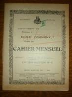 Cahier D'écolier Ecole Communale Romilly Sur Seine-Cahier Mensuel Années 1930 - Diploma & School Reports