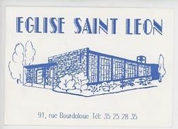 Le Havre 25 Mars 1989 La Nouvelle église Saint Léon A Ouvert Ses Portes - Veillée Pascale (carte Double) Dessin Gravure - Le Havre