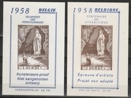 E 75/ E76 Centenaire Des  Apparitions/Lourdes ** - Commemorative Labels