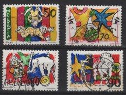 ART 53 - SUISSE N° 1406/09 OBL. Thème Cirque Rolf Knie - Schweiz
