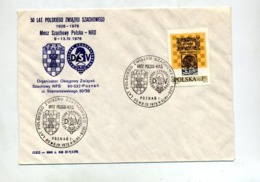 Lettre Cachet Poznan Echec - Affrancature Meccaniche Rosse (EMA)