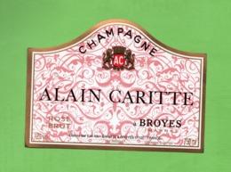 "ETIQUETTE DE CHAMPAGNE ""   ALAIN   CARITTE - Champagne"