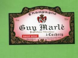 "ETIQUETTE DE CHAMPAGNE ""   GUY  MARLE - Champagne"