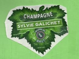 "ETIQUETTE DE CHAMPAGNE ""    SYLVIE  GALICHET - Champagne"