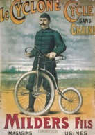 LE CYCLONE, Cycle Sans Chaîne, MILDERS Fils, Usines Magasins, Copie De Pub, Carte Moderne - Pubblicitari