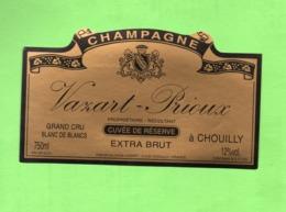 """ETIQUETTE DE CHAMPAGNE """"    VAZART-PRIOUX - Champagne"""
