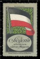 Old German Poster Stamp Cinderella Vignette Erinoffilo Reklamemarke Flag Flagge Germany Deutschland. - Flaggen
