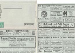 Entier Postal Allemand Avec Publicités 1915 Advertising Postal Stationery : Tabac Boisson Laine Chauffage Oiseau Poisson - Biere