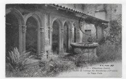 (RECTO / VERSO) CHARLIEU - N° 48 - CLOITRE DE L' ABBAYE DES BENEDICTINS - LE VIEUX PUITS - CACHET CONVOYEUR - CPA - Charlieu