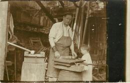 Metier Interieur Forge Forgeron  Carte Photo  Parent De Jules Dombret Metiers - Artisanat