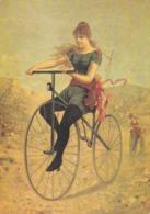 Nos Cyclistes En GRAND BI, Copie De Pub, Carte Moderne - Pubblicitari