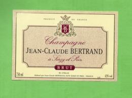 "ETIQUETTE DE CHAMPAGNE ""   J.C.  BERTRAND - Champagne"