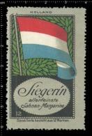 Old German Poster Stamp Cinderella Vignette Erinoffilo Reklamemarke Flag Flagge Netherlands Holland. - Flaggen